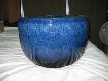 Blue Japanese Pottery in Okinawa, Japan