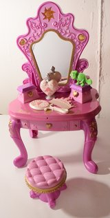 Princess Rapunzel light up doll vanity with accessories in Schaumburg, Illinois