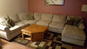 Microfiber sectional couch in Batavia, Illinois