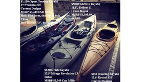 Kayaks for sale price varies in Okinawa, Japan