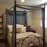 Full Size Metal Canopy Bed Frame in Okinawa, Japan