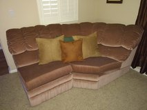 couch 4 piece Sectional  with recliner and a queen bed in Vacaville, California