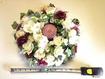 """14"""" Floral Wreath w/Red Candle in Aurora, Illinois"""