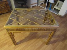nice Bamboo table with glass top in Alamogordo, New Mexico