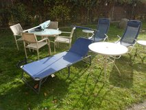 12 pcs. PATIO SET METAL AND GLASS in Ramstein, Germany