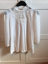 ivory blouse with crochet lace in Ramstein, Germany