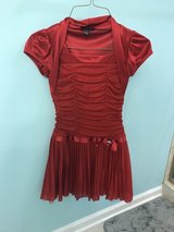 Reduced: Beautiful Girls Red Sparkly Dress in Joliet, Illinois
