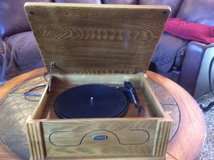 LIKE NEW RECORD PLAYER - REPLICA OF OLD TIME RECORD PLAYER - WORKS GOOD in Naperville, Illinois