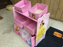Little girls princess toy bin in Batavia, Illinois