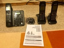 Panasonic 6.0plus cordles phone with Base and 2 Handsets in Colorado Springs, Colorado
