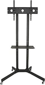 """Black TV Cart for LCD LED Plasma Flat Panel Stand w/Wheels Mobile fits 32"""" to 65"""" in Pearl Harbor, Hawaii"""