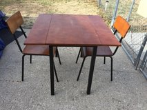 "Drop leaf table 2 chairs 3x3'  30"" tall in Fort Riley, Kansas"