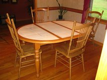 Dining table & chairs seats 4 in Fort Leonard Wood, Missouri