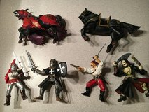 PAPO, Plastoy Knights and Disney Pirate of Caribbean figures in Lockport, Illinois
