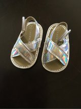 Baby Girls Holographic Sandals Size 2 (fits like a 1) in Kingwood, Texas