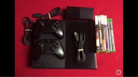 xbox one 500gb with 2 controllers and 8 games in Fort Campbell, Kentucky