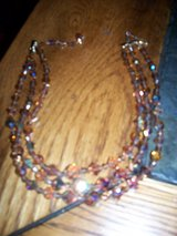 Vintage Crystal Topaz 3 strand necklace in Travis AFB, California