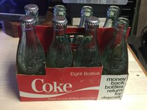 Collectable Coke bottles in Camp Pendleton, California