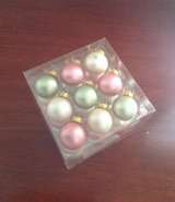 "NEW 1"" Pink, Green, Cream Glass Ornaments (27) in Moody AFB, Georgia"