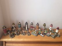 Collection of 17 Lighthouse Figurines in Okinawa, Japan