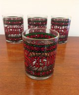 Set of 4 Vintage, Houze, Season's Greetings, Hi-Ball Glasses in Moody AFB, Georgia