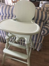 Old wooden high chair in Warner Robins, Georgia