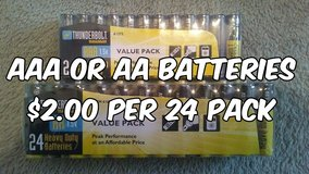 AAA or AA Batteries in Cleveland, Texas