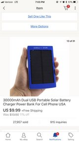 solar phone charger in Beaufort, South Carolina