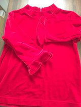 new girls red velour top size 6x Talbots in Naperville, Illinois