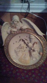 Angel Light up Plate with Nativity in Lawton, Oklahoma