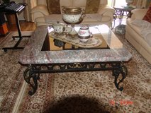 Turkish Glass, Metal and Marble Coffee and End Tables in Okinawa, Japan