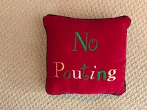 No Pouting Christmas Pillow in Okinawa, Japan