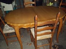 Solid wood Table with 4 chairs in Moody AFB, Georgia