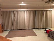 Japanese sliding glass door curtains in Okinawa, Japan