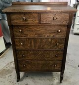 Oak Highboy Chest of Drawers in Alamogordo, New Mexico