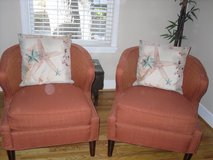 TWO LUCCA RUST EXTENDED ARM CHAIRS in Beaufort, South Carolina