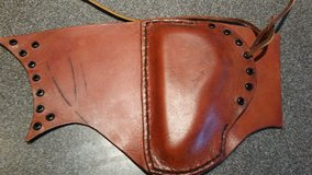 Handmade leather cheek pad (M1 Garand pattern) in Camp Lejeune, North Carolina