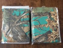 2 sets of Teal/Camo Curtains in Liberty, Texas