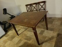 Solid Wood Dining Table with 3 Chairs in Fort Leonard Wood, Missouri