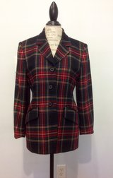 Women's Plaid Wool Jacket in Moody AFB, Georgia
