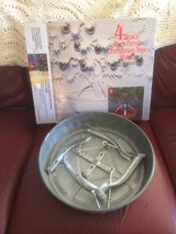 Galvanized Christmas Tree Stand Heavy Duty 4 Brace W Original Box. in Plainfield, Illinois