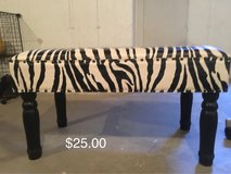 Zebra bench in St. Charles, Illinois