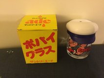 Popeye The Sailor Man Glass Suntory collectible - read condition in Okinawa, Japan