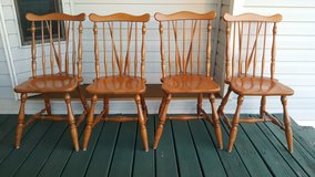 Set of 4 All Wood Dining Chairs in Baytown, Texas
