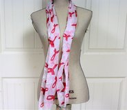"NWOT Pink Breast Cancer Awareness Fight TaTa Boobs Scarf Sheer 60"" Chemo Bald in Kingwood, Texas"