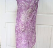"Purple Plum Lavender White Wrap Scarf Sheer Cover Up Flower Flower 58"" x 37"" in Kingwood, Texas"