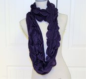 "NWOT Purple Plum Lavender Knit Infinity Scarf Winter Fall Ski Cold 76"" Snow Crochet in Kingwood, Texas"