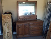 6 Drawer dresser with a mirror back. Need to sell now. Moving soon in Fort Polk, Louisiana