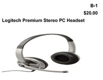 Logitech Premium Stereo PC Headset(B1) in Barstow, California