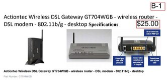Actiontec Wireless DSL Gateway GT704WGB(B1) in Barstow, California